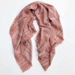 H&M Desert Rose Pink Geometric Blanket Scarf NWT